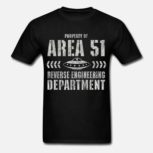 AREA 51 T SHIRT ALIEN DJ UFO MUSIC X FILES REVERSE ENGINEERING DEPT. T SHIRTS(China)