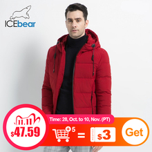 ICEbear 2019 New Mens Winter Jacket High Quality Mens Coat Hooded Male Coat Thicken Warm Man Apparel MWD18925I