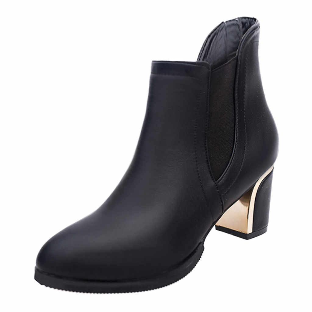Elastische Band Knöchel Stiefel für Frauen Mode Spitz Hohe Ferse Kurze Stiefel Winter Frauen Schuhe Muttertag Booties Bottes Femme