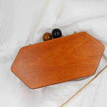 Fashion Chain Evening Bags Women Crossbody Messenger Bag Handmade Wood Rhombus Shoulder  Mini Ladies Phone Purses