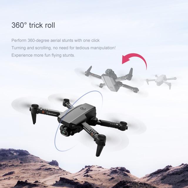 Novo zangão 4k câmera dupla hd xt6 wifi fpv zangão pressão de ar fixo altura quatro-eixo aeronaves rc helicóptero com câmera 3