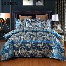 JDDTON Satin Jacquard 2 3 pcs Set 2020 New Arrival Bedding Set Classcial Pattern Style Quilt