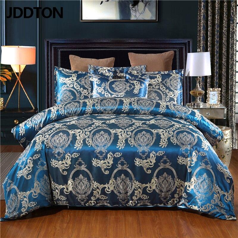 JDDTON satén Jacquard 2/3 Uds Set 2020 nueva llegada juego de cama patrón clásico estilo funda de edredón y funda de almohada BE121