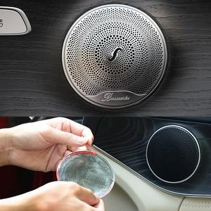 Stainless steel Car Audio Speaker Car Door Loudspeaker Trim Cover For Mercedes Benz 2015-2018 C Class W205/GLC 2016-2018 E-Class