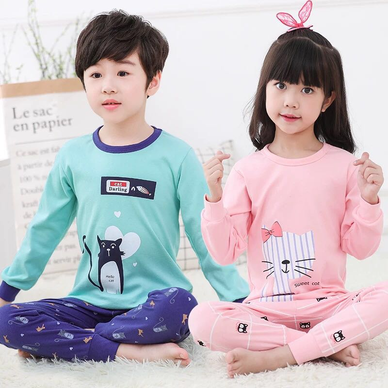 Kids Cartoon Pajamas Children Sleepwear Baby Pajamas Sets Boys Girls Christmas Pyjamas Pijamas Cotton Nightwear Kids Clothes