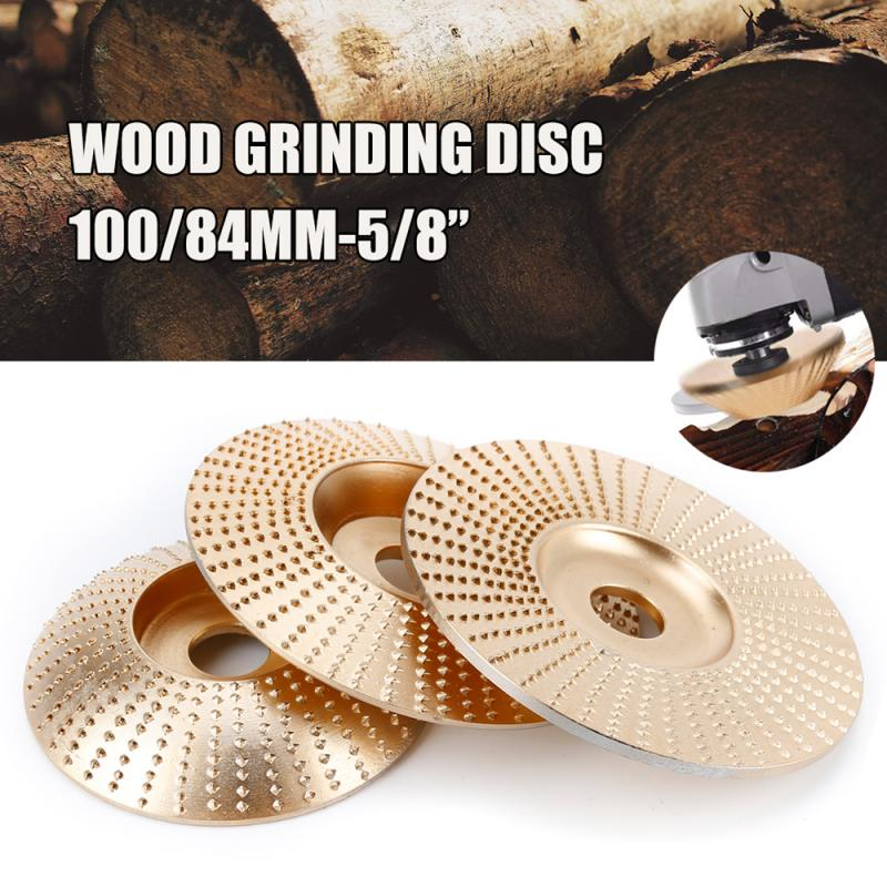 84/100mm Carbide Wooden Abrasive Disc Grinding Wheel Carbide Sanding Carving Shaping Disc For Woodworking Grinder Grinding Wheel
