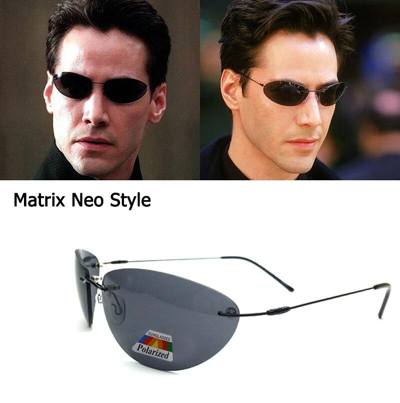 Óculos de sol polarizados clássicos matriz neo morpheus uv400 filme óculos de sol