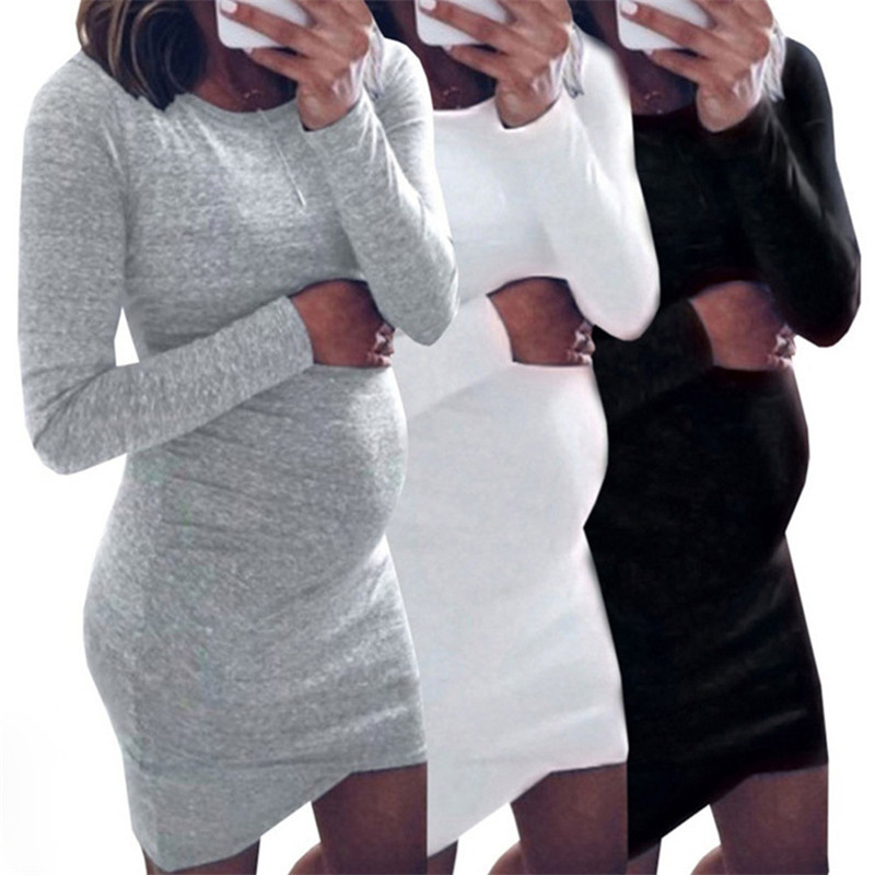 Bodycon Off Shoulder Pregnancy Dress Robe Femme Women Dress Pregnant