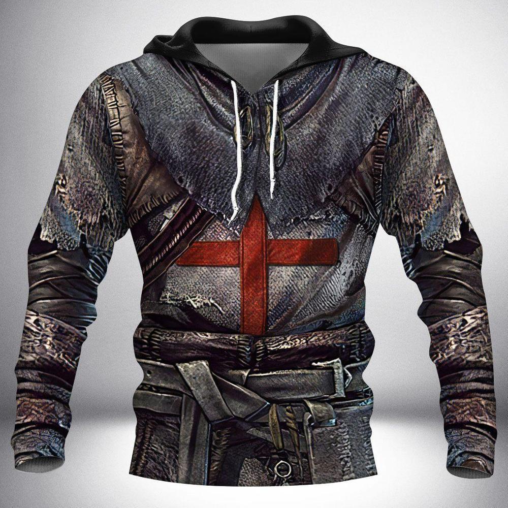 Knight Templar Armor 3D All Over Printed Hoodie For Men/Women Harajuku Fashion Hooded Sweatshirt Casual Jacket Pullover KJ010