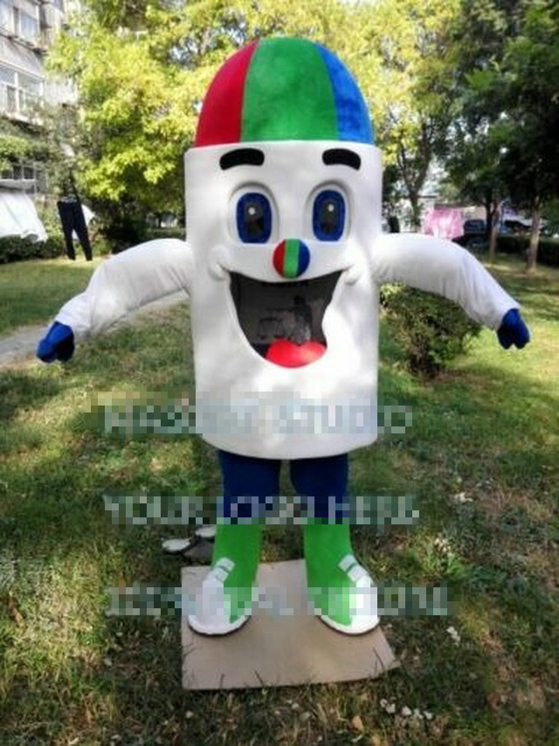New Ice Cream Mascot Costume Suit Cosplay Party Game Dress Outfit Halloween Adult Birthday Cartoon Character Mascot Costume Gift