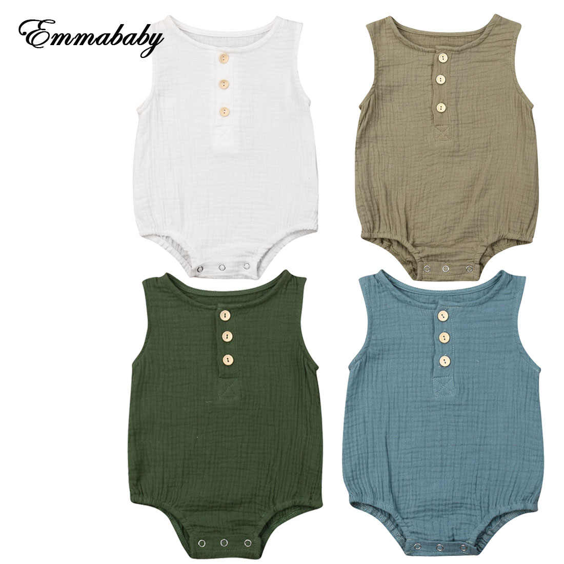 NEW 2020 Toddler Baby Girls Kid Sleeveless Cotton Soft Romper Jumpsuit Outfit Summer Clothes 0-24M