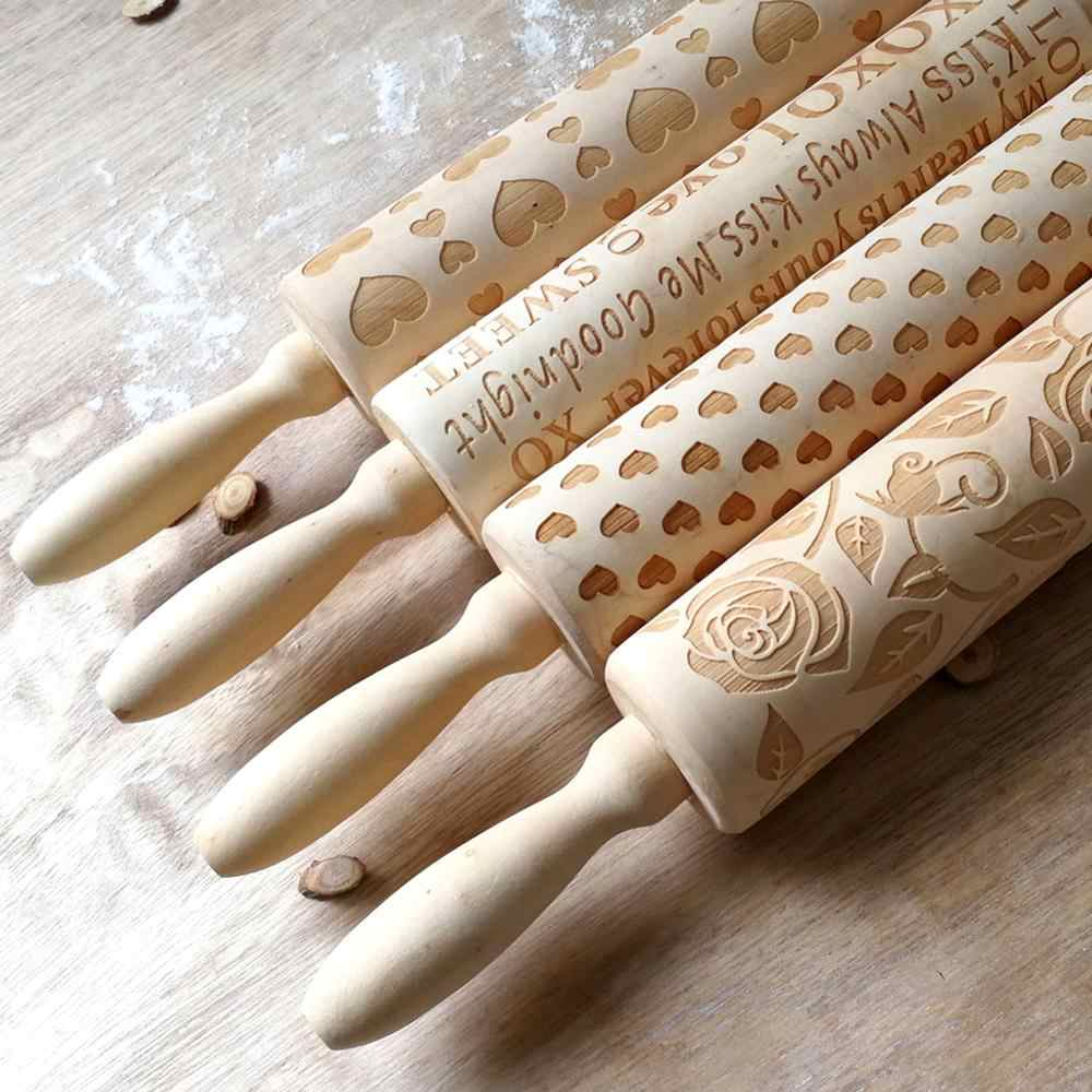 Dog Wooden Engraved Cookie Roller US Details about  /Drentse Patrijshond Embossing Rolling Pin