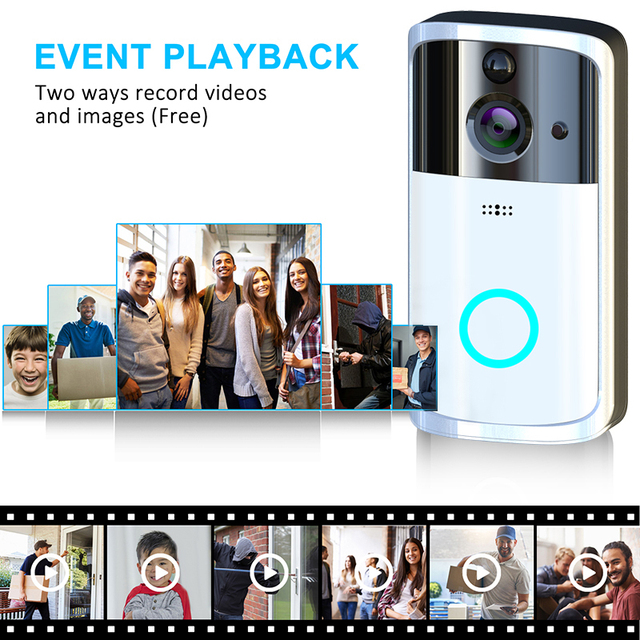 Newly Wireless Smart WiFi Doorbell IR Video Visual Camera Intercom Protect Home Safe DC128