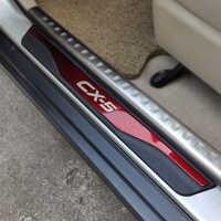 Sticker For Auto Mazda CX-5 CX 5 CX5 Door sill Strip Accessories Car Pedal Protectors Trim Cover 2013 2015 2017 2018 2019 2020