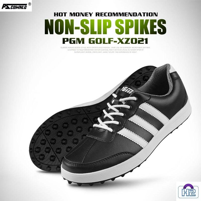 Golf shoes pscownlg-h2 Hoge Kwaliteit! Pgm Golf Schoenen Mannen Hoofd Laag Koeienhuid Sport Schoenen Casual walking shoes