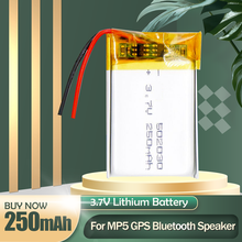 Batería recargable de iones de litio para MP3, MP4, LED, DVD, GPS, Bluetooth, auriculares, altavoz, cámara, 502030, 052030, 3,7 V, 250mAh