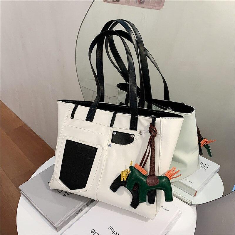 Летние вместительные сумки, женские сумки, новинка 2020, модные популярные сумки через плечо, портативные сумки-тоут в иностранном стиле