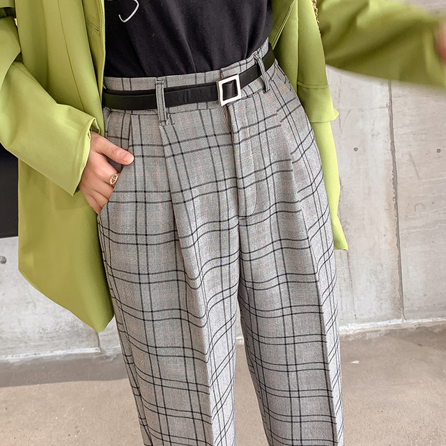 Casual Plaid Trousers 4