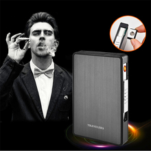 Portable USB Electronic Cigarette Case with Lighter 16pcs