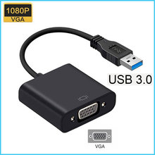USB Zu VGA Adapter USB 3,0 zu VGA Multi Display Adapter Konverter Externe Video Grafikkarte Tragbare für PC monitor Projektor