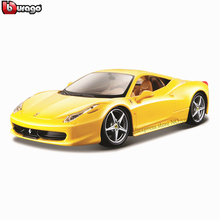 Bburago 1:24 Ferrari 458Y collection manufacturer authorized simulation alloy car model crafts decoration toy tools
