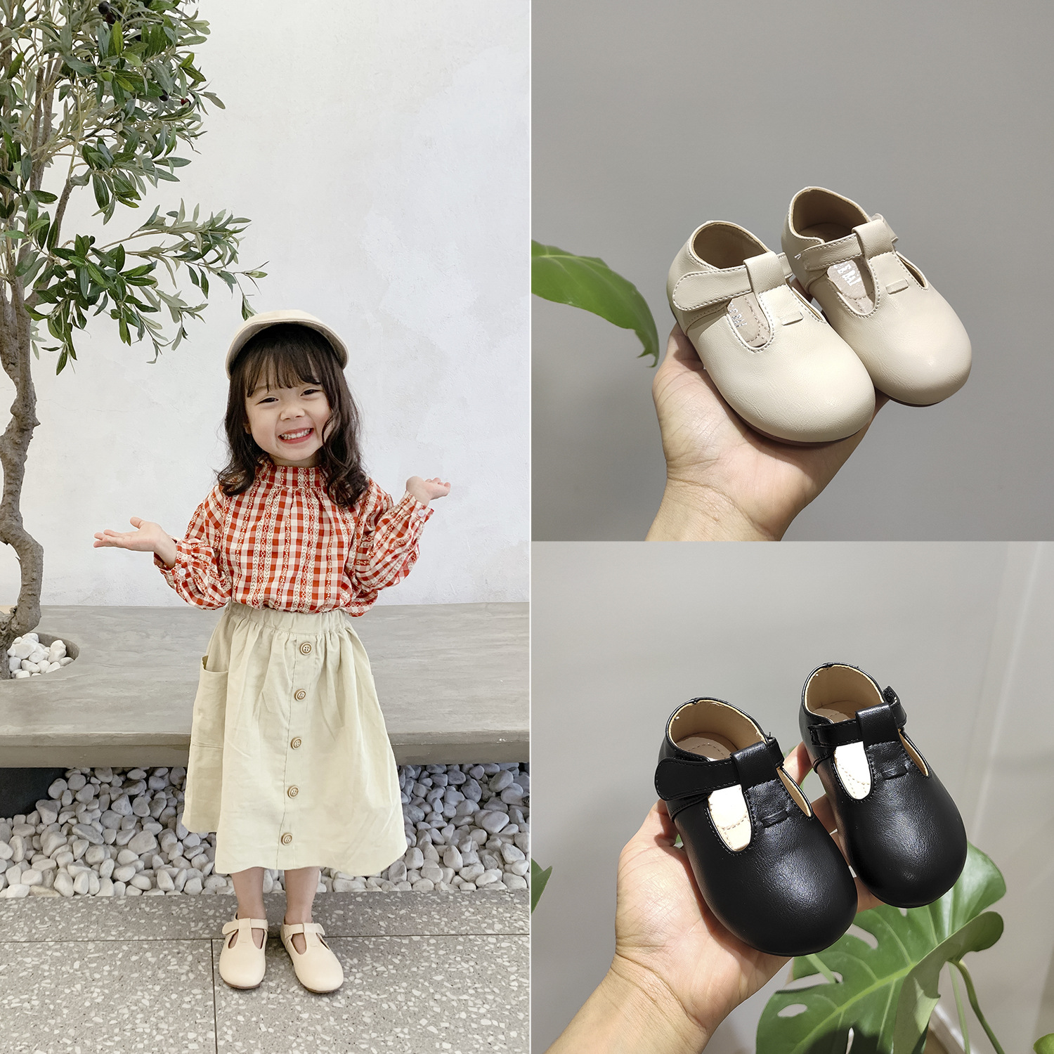 Baby Girl Children's T-strap Sneakers Kids Children Shoes High Quality PU Leather Shoes Toddler 2020 Spring Moccasin Loafers