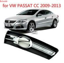 цена на 1Pair for VWPASSAT CC 2009 2010 2011 2012 2013 12V LED CAR DRL Daytime running lights with fog lamp hole cover