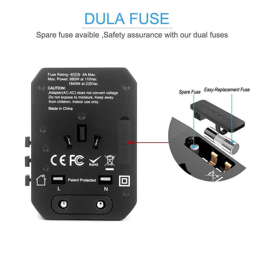 Image 3 - 5USB travel adapter Universal Power Adapter Charger worldwide adaptor wall Electric Plugs Sockets Converter for mobile phonesInternational Plug Adaptor   -