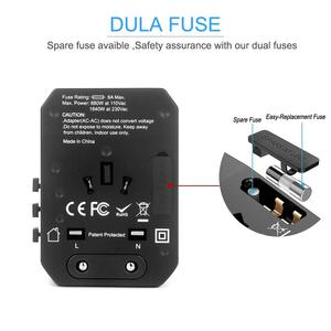 Image 3 - 5USB 여행 어댑터 범용 전원 어댑터 충전기 전세계 어댑터 벽 전기 플러그 소켓 변환기 휴대 전화