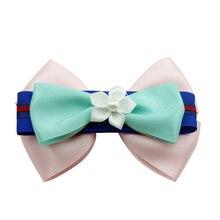 Adogirl 10pcs Sweet Rainbow Flower Hair Bow pearl Layered Bowknot Hair Bows for Girls Women Handmade Grosgrain Ribbon Hair Clips цена