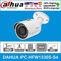 DaHua Original IPC-HFW1330S-S4 3MP POE 30M IR IP67 SD Card Slot Smart IR BLC HLC DWDR Mini Bullet IP Camera replace IPC-HFW1320S