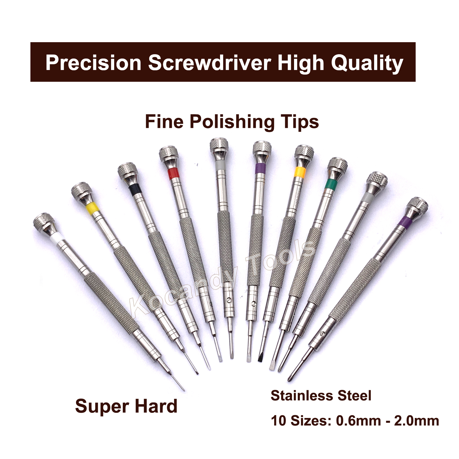 10 IN 1 Precision Screwdriver Set Watch Repair Tools Kit for Watchmakers 316 Stainless Steel Watch Tools
