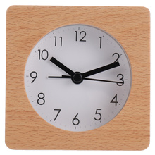 Unique Wooden Clock Household Alarm Clock Chic Office Clock for Daily Use