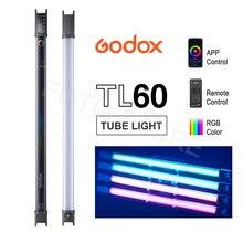Godox – Tube lumineux TL60, couleur rvb, bâton lumineux portable, support Pavotube, télécommande par application, éclairage de Studio de photographie