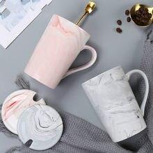 Cremazione tazza In ceramica tazza In ceramica tazza con coperchio Cucchiaio ragazza nordica In semplice Paio di UN Paio di Tazze di Caffe