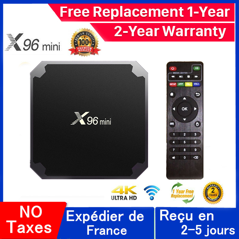 Best Iptv Box x96mini Android 9 0 Tv box 1G 8G 2G 16G smart tv media player x96 mini Set Top Box ship from france