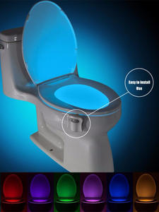 Luminaria-Lamp Toilet-Light Smart Backlight Motion-Sensor Waterproof 8-Colors WC LED