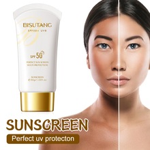 SPF50+ Sunscreen Lotion Sun and UV Protection Cream Water-Resistent Non-Greasy Sunscreen Lotion for All Skins