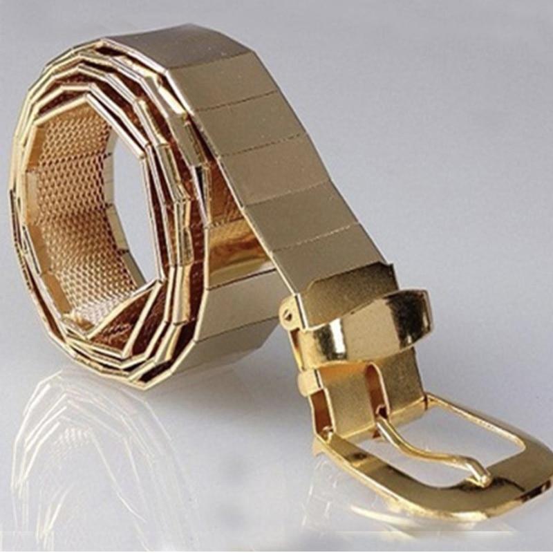 Fashion Gold Metal Belts For Women Waist Silver Chain Belt Wide Ketting Riem Designer High Quality Ceinture Femme Punk Cintos