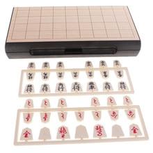 Katlanır Shogi japon satranç seti, geleneksel tahta dama oyunları 2