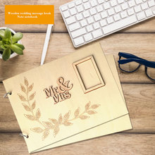 Wooden GuestBook Personalised Rustic Wedding Party Photo Album Gift Guest Book Creative DIY Birthday
