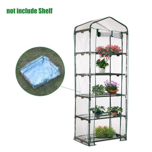 Scucs Jardin Fleur Plantes Couverture 3 /étages Anti-UV Imperm/éable Portable PVC Serre