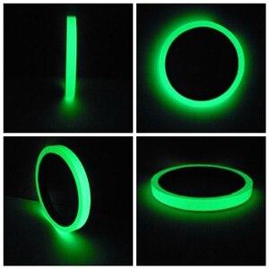 Image 3 - Светоотражающая лента для автомобиля, 1 см, 3 м, стикер для автомобиля, автомобильные аксессуары, светильник, светящийся предупреждающий сигнал, светящийся в темноте, ночной стикер ленты, стикер, безопасная наклейка DIY