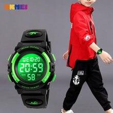 2020 SKMEI wielofunkcyjny chronograf zegarki sportowe dzieci LED cyfrowy zegarek 5Bar wodoodporne dzieci zegarki na rękę dla chłopców dziewcząt