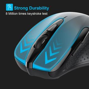 Image 5 - TeckNet Bluetooth Mouse Wireless Laptop Mouse 1200/1600/2000/2600DPI Two AAA Battery Bluetooth Mice For PC Notebook Windows