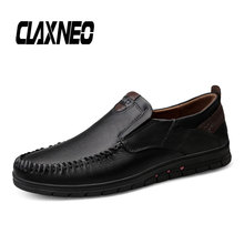 Buy CLAXNEO Man Leather Shoes Design Retro Vintage Loafers shoes Male Boat Footwear Slip on Genuine Leather Walking Shoe Breathable directly from merchant!