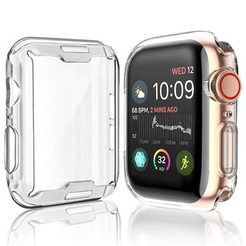 Watch Cover Case for Apple 4 3 2 1 42MM 38MM Soft 360 Slim Clear TPU Screen Protector iWatch series 4/3/2/1 44MM 40MM - discount item  34% OFF Watches Accessories
