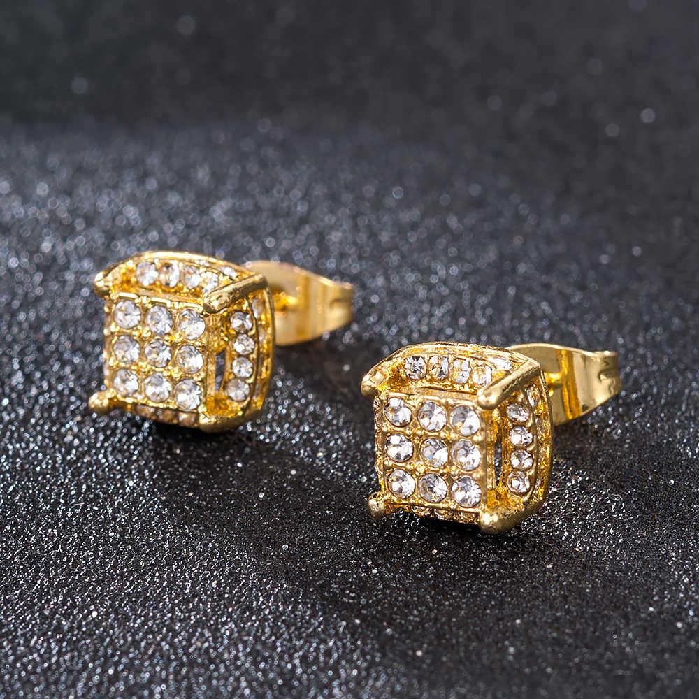 חמוד נשים זהב פרל קריסטל ריינסטון עגיל עגילי תכשיטי סגסוגת קטן עגילי Aretes דה Mujer Modernos 2020
