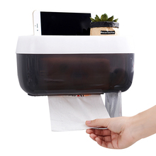 Creative Bathroom Tissue Dispenser Waterproof Toilet Paper Holder Roll Paper Storage Box Bathroom Paper Phone Holder Plastic
