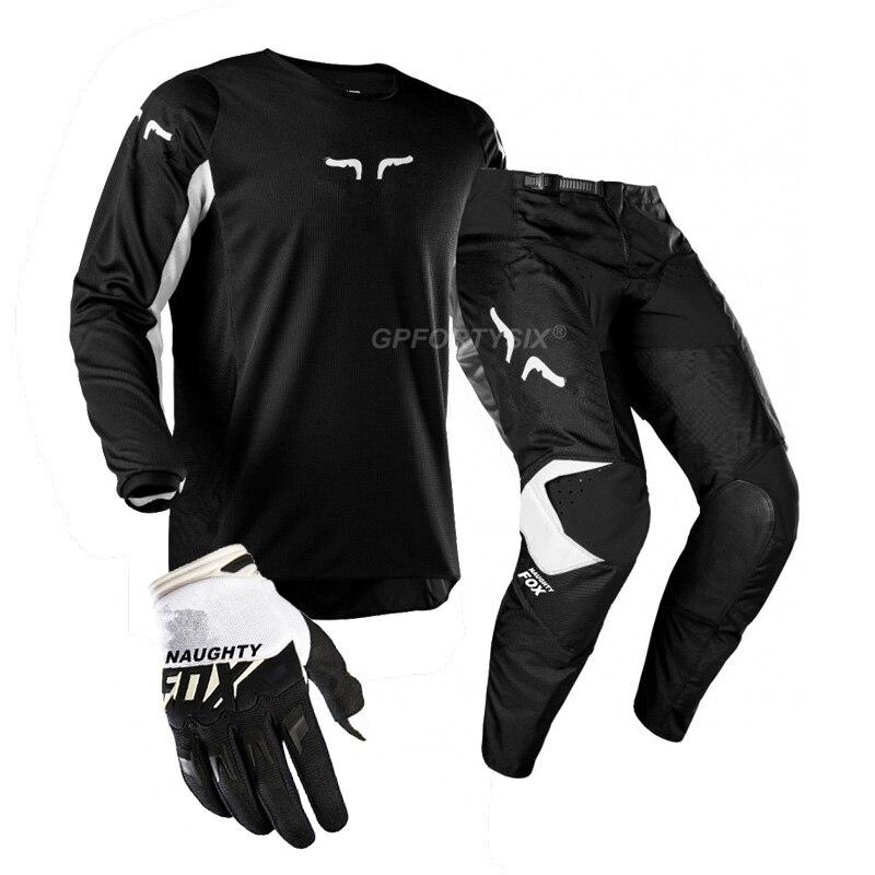 360 Kila DH vtt Moto équipement de course saleté vélo cyclisme maillot MX pantalon gants équitation ensembles Motocross costumes Moto Combos vêtements - 3